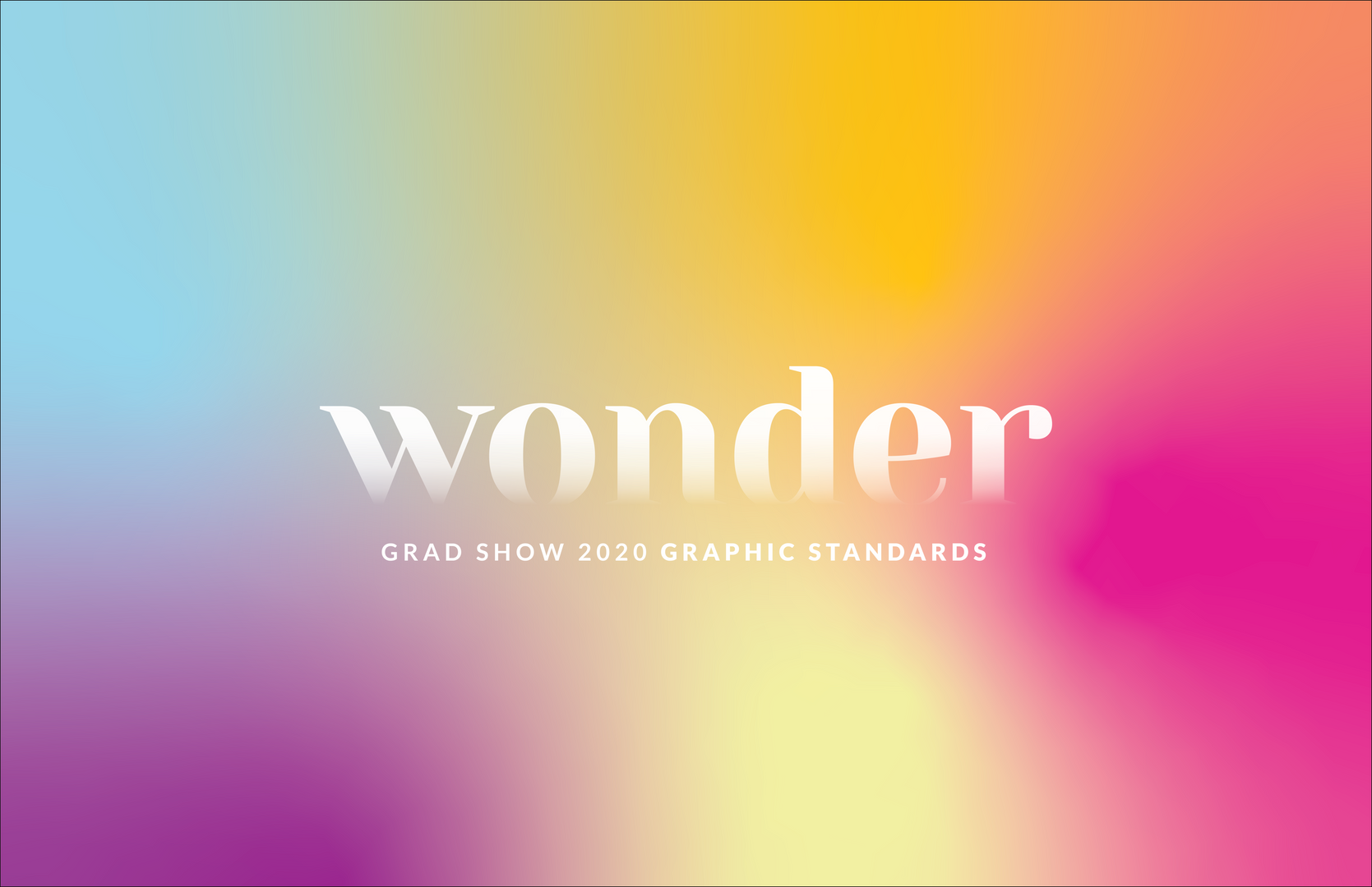 Wonder Grad Show — Visual Identity