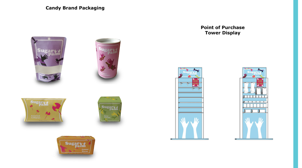 Sugar palm Packaging and Point of Purchase Tower display