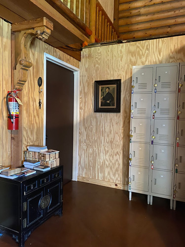 Lockers are provided for your personal belongings