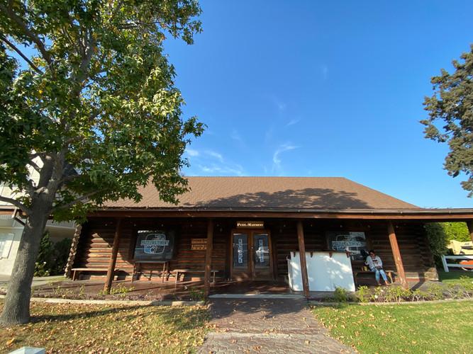 Our log cabin entrance