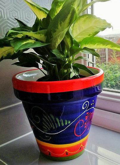 Plant Pot -Rameado Azul