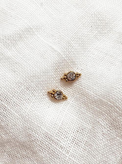 White Diamond Earrings