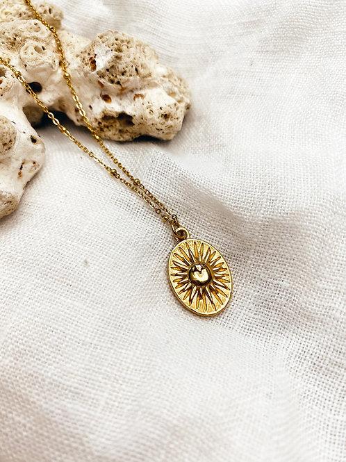 Gold Sun Sky Necklace
