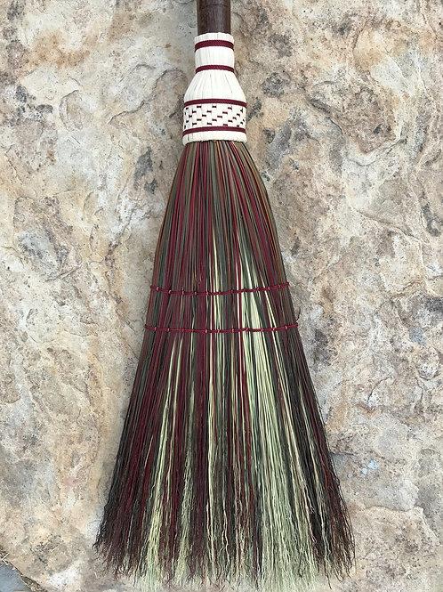 Twisted Handle Olive & Burgundy Broom