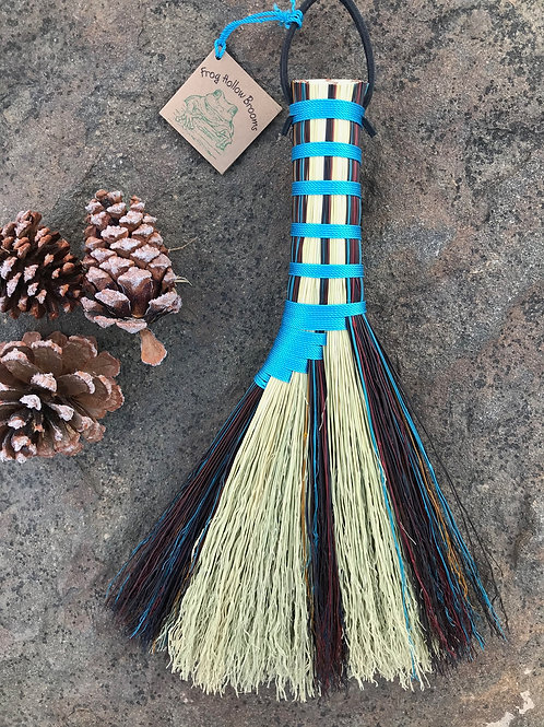 Teal and Burgundy Handmade Turkey Wing Whisk