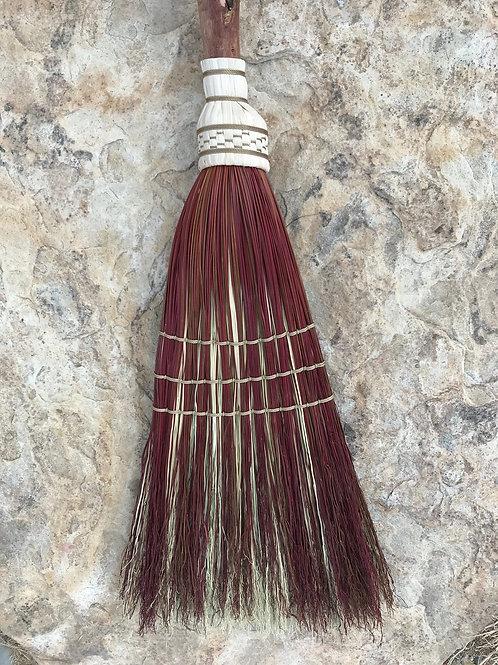 Twisted Handle Rust & Burgundy Broom