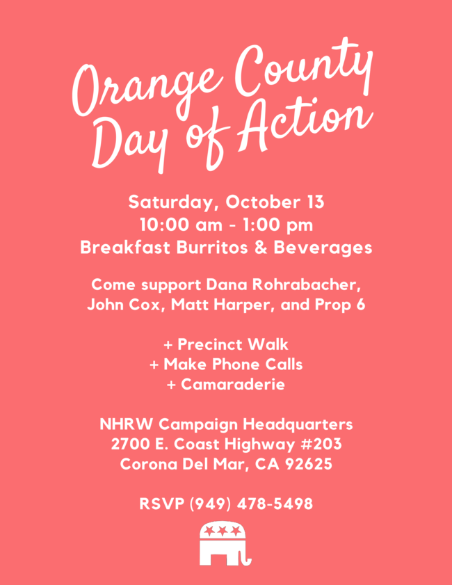 OC Day of Action Event Flyer