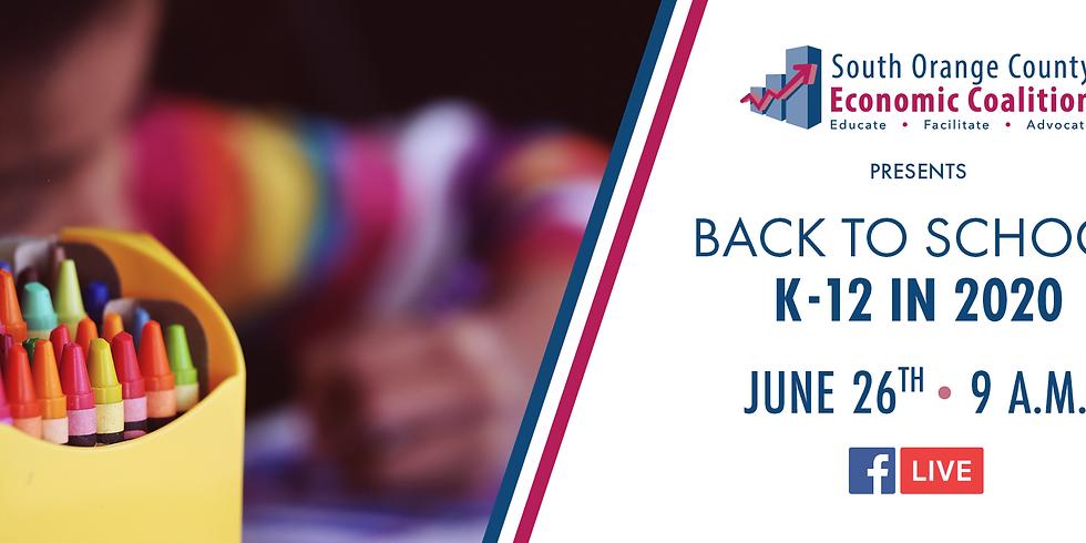 Back to School: K-12 June 2020