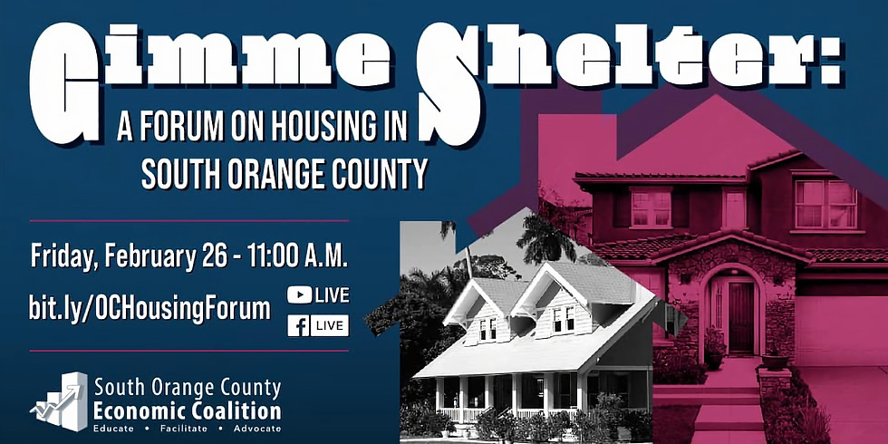Gimme Shelter: A Forum on Housing in South Orange County