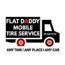 Flat Daddy Mobile Tires Logo Final White