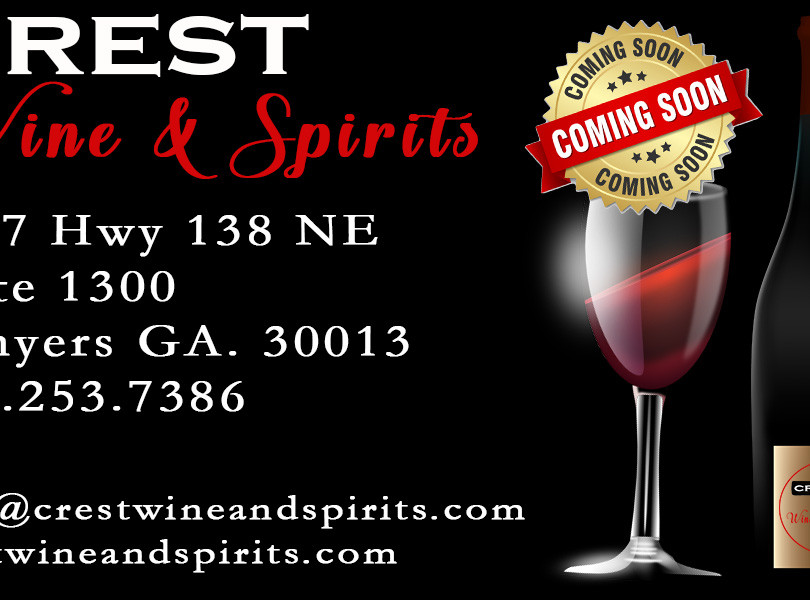 Crest Wine & Spirit Business Card