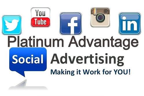 Social Media Advertising Platinum Advantage Monthly Plan