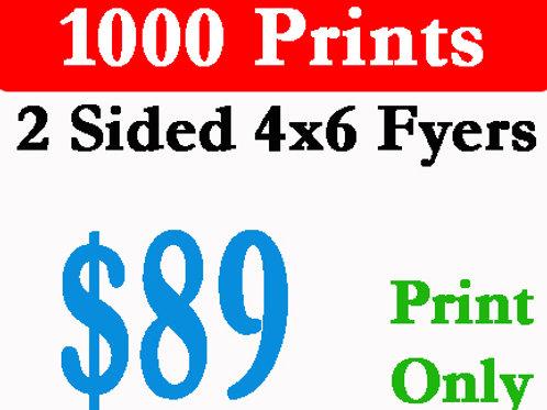 1000 Postcard Flyers Printed