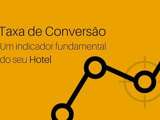 Qual a taxa de conversão do site do seu hotel?