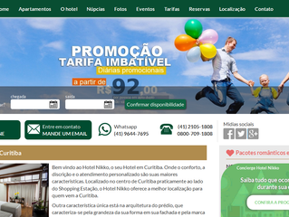 Hotel Nikko de Curitiba lança novo site com sistema de concierge para incentivar as reservas diretas