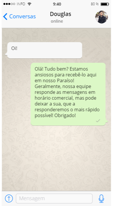 WhatsApp Business para hotel