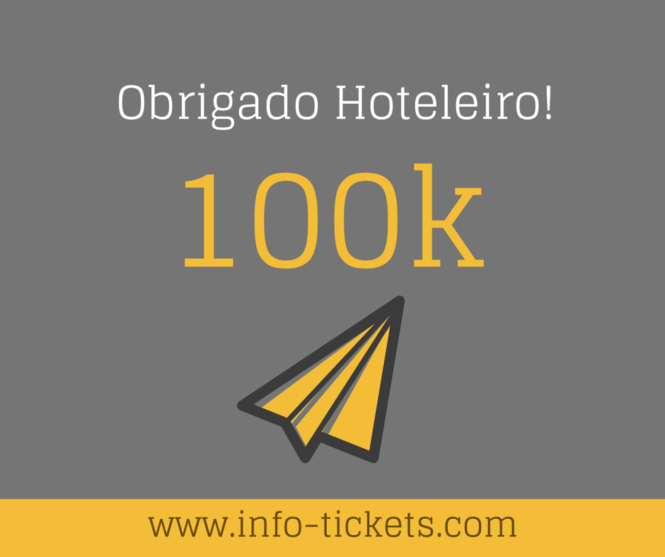 Infotickets atinge 100 mil diárias prospectadas