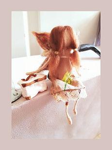 Handmade Vintage Wool Fairy Doll Ornament