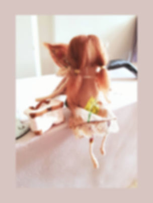 Handmade Vintage Wool Fairy Doll