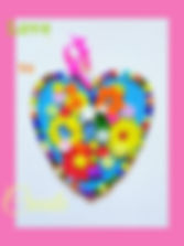Hand-made Crafted Heart Bold Colours Big Heart Badge