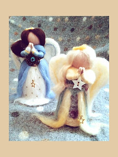 Hand-made Wool Dolls Christmas Angels Decoration Ornament