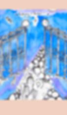 Hand-drawn Illustration Gateway Portal Fairytale Mystical Otherworldly Dreamlike