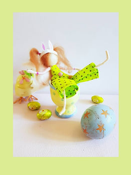 Hand-made Wool Bunny-Fairy Doll Easter Decoration