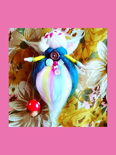 Hand-made Custom Hanging Wool Fairy Summer Colours Fairytale