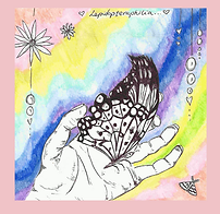 Handdrawn Illustaion Butterfly in Hand Watercolour Lepidopteraphilia
