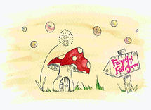 Toadstool Hand-drawn
