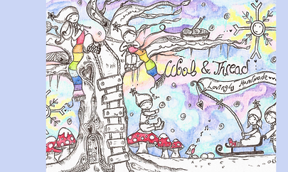 Hand-drawn Custom Illustration Winter Gnome Scene Fairytale
