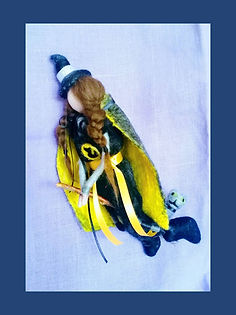 Mildred Hubble Worst Witch Fantasy Doll Hand-made Hanging Wool Witch