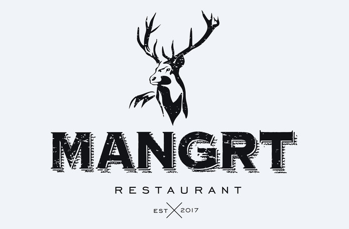 Mangrt restaurant logo design
