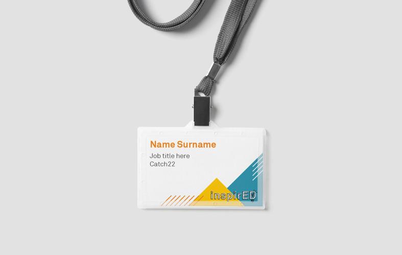 Event name badge design
