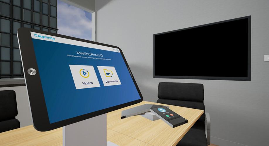 VR tablet interface