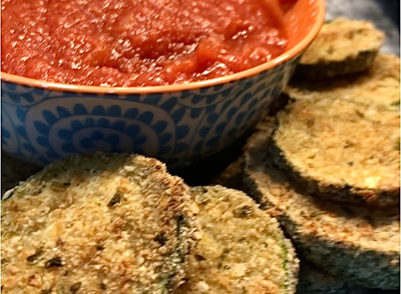 Baked Breaded Zucchini Slices