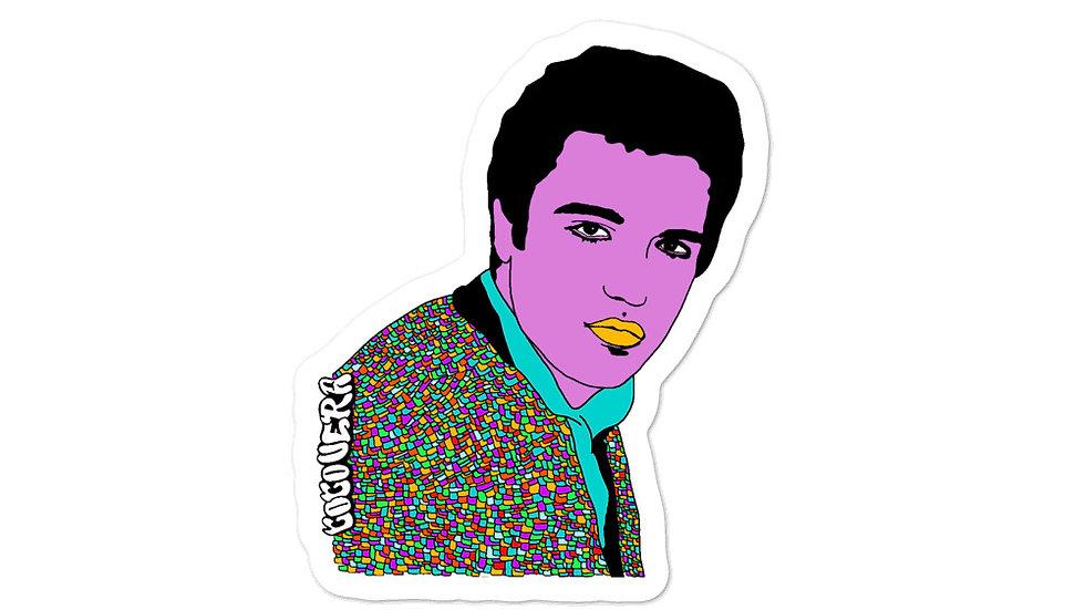 """Elvis"" Bubble-free stickers"