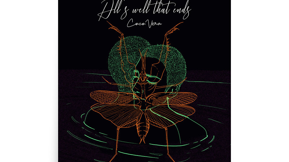 All's Well That End's Album art by Andrea Saucedo