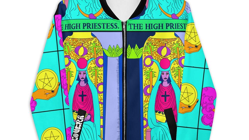 """The High Priestess"" Tarot Unisex Bomber Jacket"