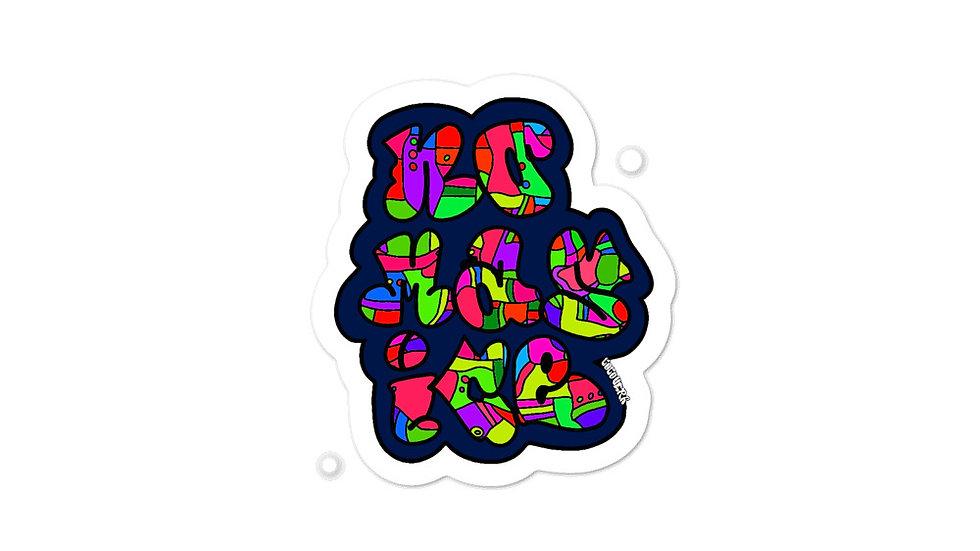 """""""No Mas ICE"""" Bubble-free stickers"""