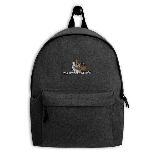 The Drunken Scholar embroidered backpack Dark Grey