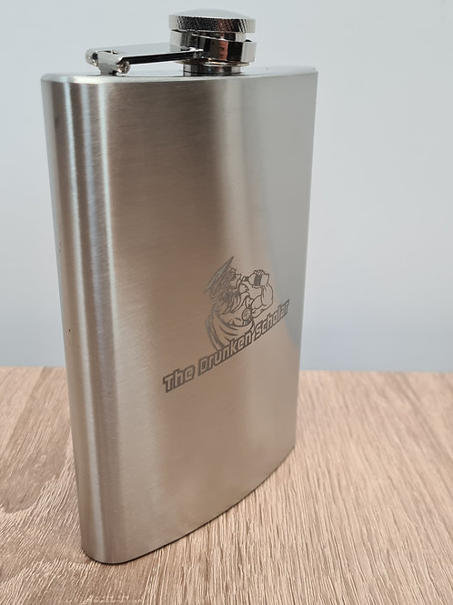 8oz Drunken Scholar Hip Flask