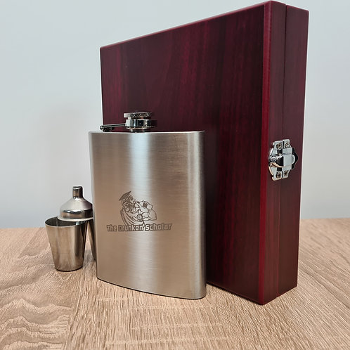 8oz Hip Flask Gift Set