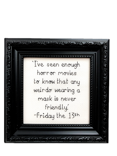 Friday the 13th Quote Stitch