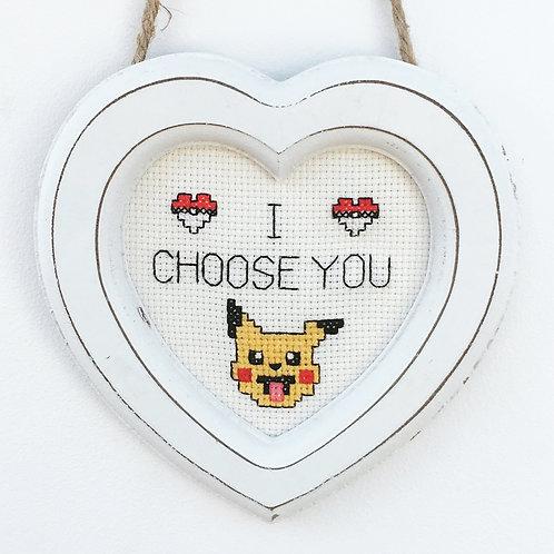 I Choose You Pokémon Inspired Stitch