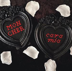 Cara Mia/Mon Cher Morticia and Gomez Heart Stitch