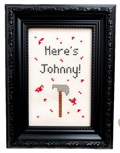 'Here's Johnny' The Shining Inspired Stitch