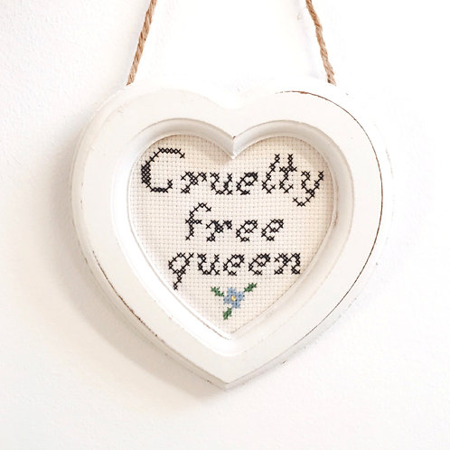 Cruelty Free Queen Blue Stitch