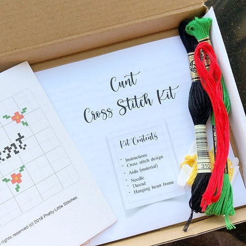 C*nt Cross Stitch Kit