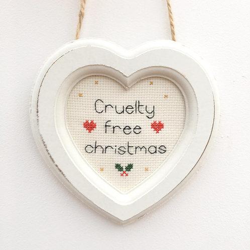 Cruelty Free Christmas Heart Stitch